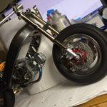 東京モーターサイクルショーの準備、ミニビモータSB6のプラモ4